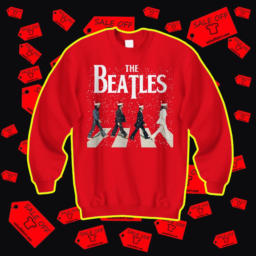The Beatles Abbey Road Chrismtas sweatshirt