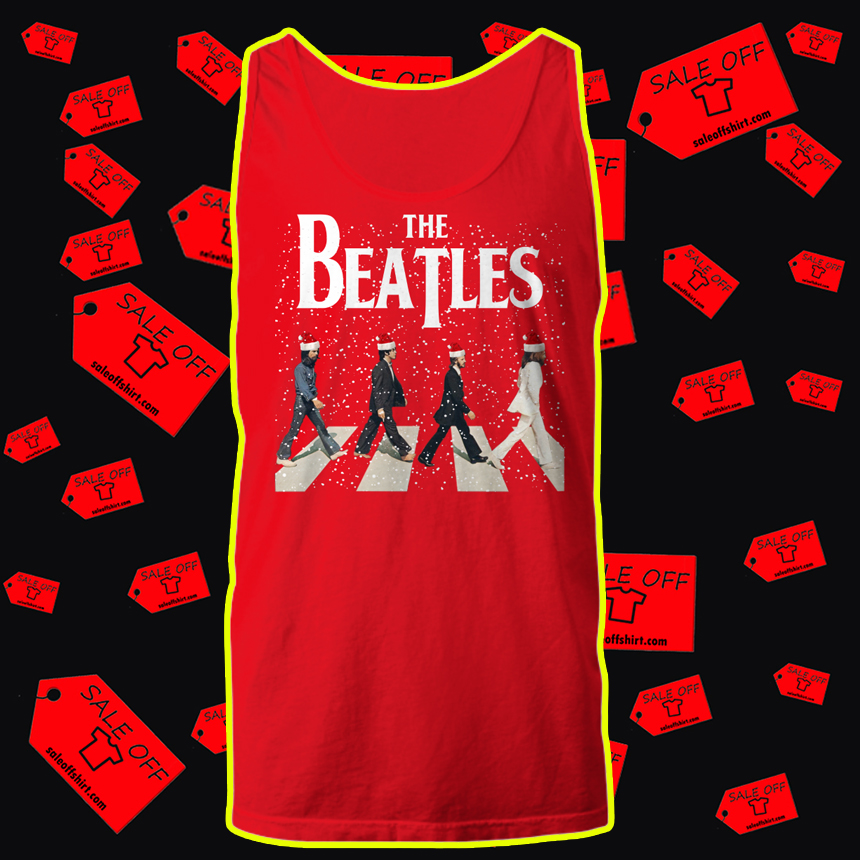 The Beatles Abbey Road Chrismtas tank top