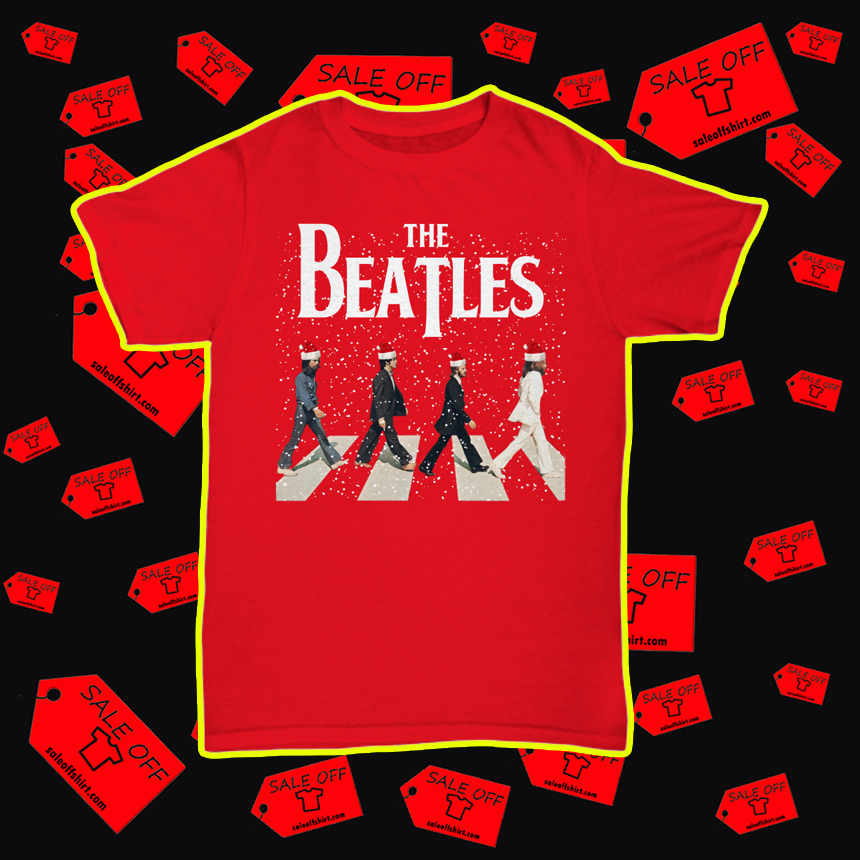 The Beatles Abbey Road Chrismtas unisex tee