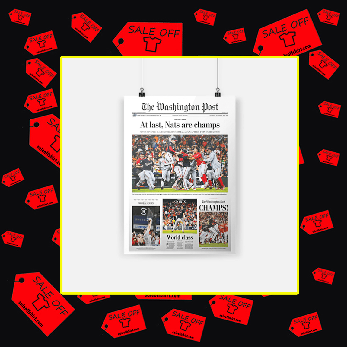The Washington Post At Last Nats Are Champs Poster - A4
