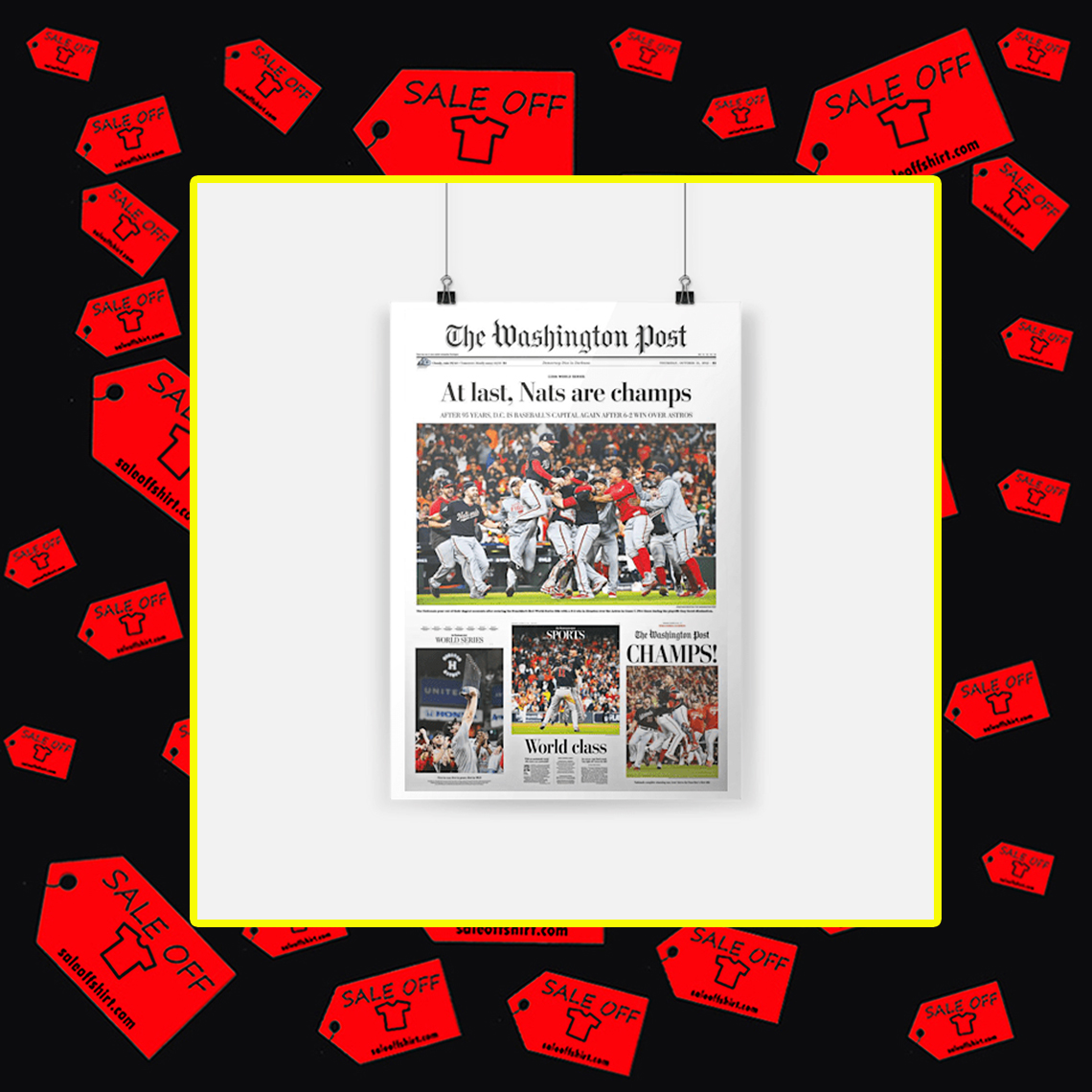 The Washington Post At Last Nats Are Champs Poster