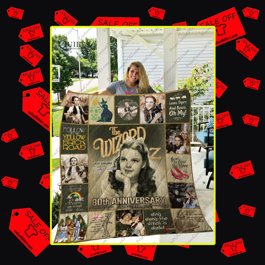 The Wizard of Oz Judy Garland Signature Quilt - King
