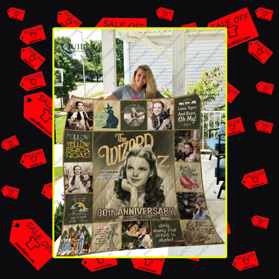The Wizard of Oz Judy Garland Signature Quilt - SuperKing