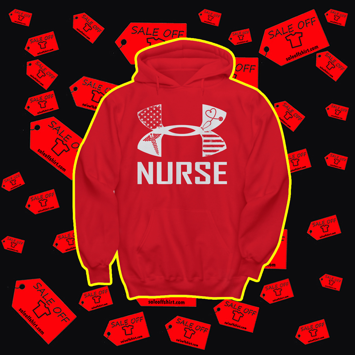 Under Armour Nurse Hoodie- red