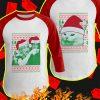 Woman Yelling At Cat Meme Christmas Raglan