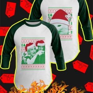 Woman yelling at cat meme christmas raglan
