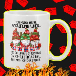 You Know You're Norwegian When God Jul Mug