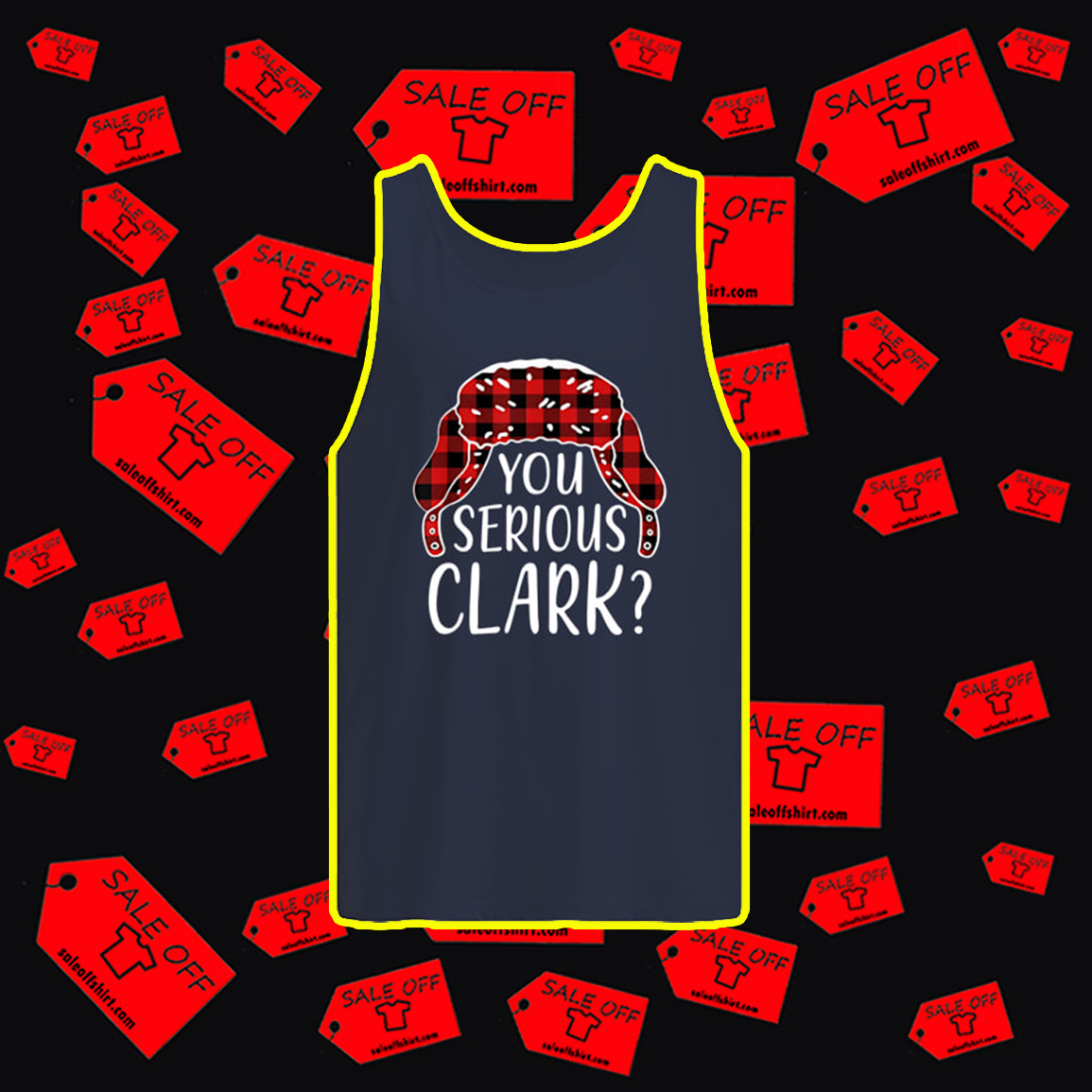 You Serious Clark Christmas tank top
