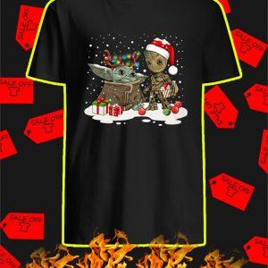 Baby Yoda And Baby Groot Christmas Shirt