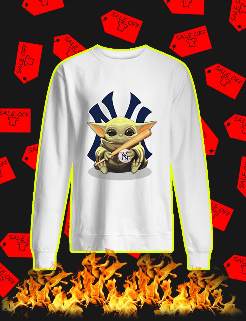 sale off baby yoda hug new york yankees shirt and vneck