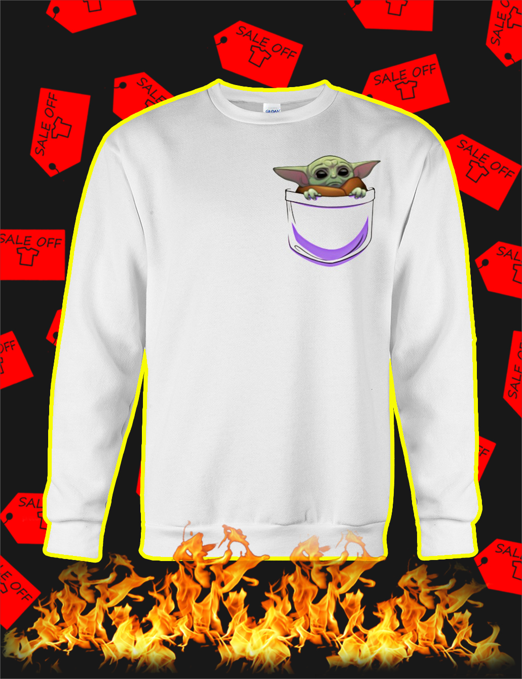 Baby Yoda Pocket SweatShirt