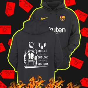 Barcelona Messi One Life One Love One Team Hoodie