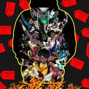 Black Women And Men Superheroes All Over Print 3d Hoodie
