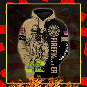Firefighter Custom Personalized Name 3D Hoodie