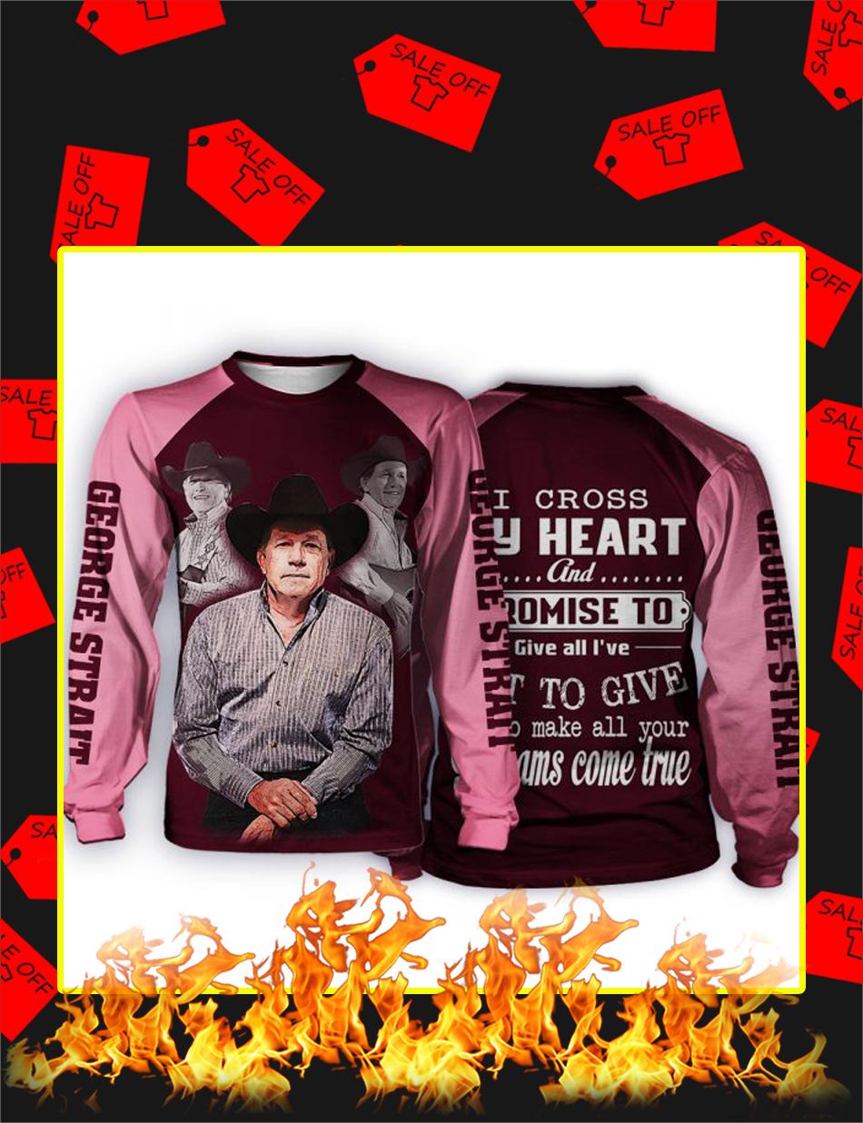 George Strait I Cross My Heart 3d Long sleeved-Shirt
