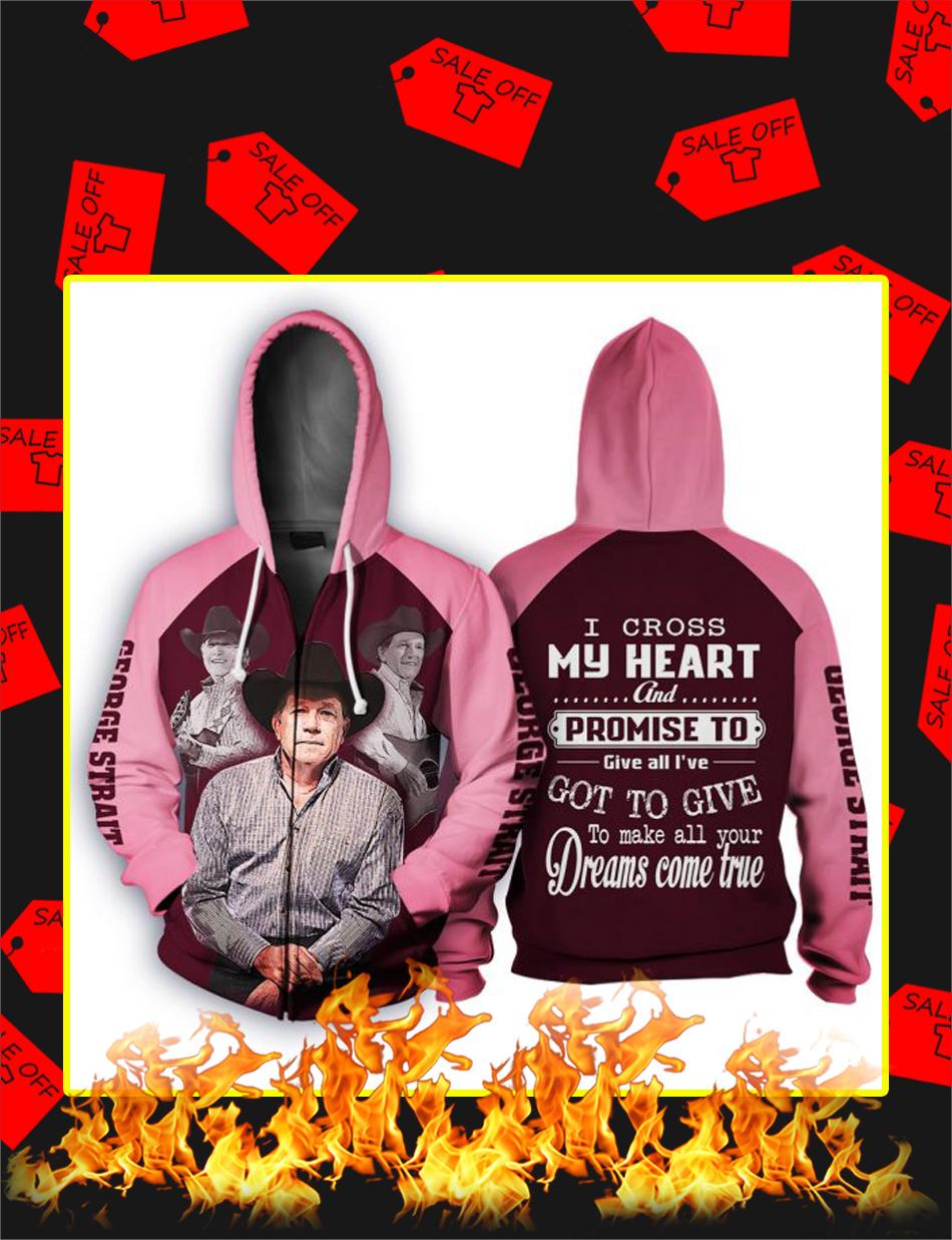 George Strait I Cross My Heart 3d Zip Hoodie