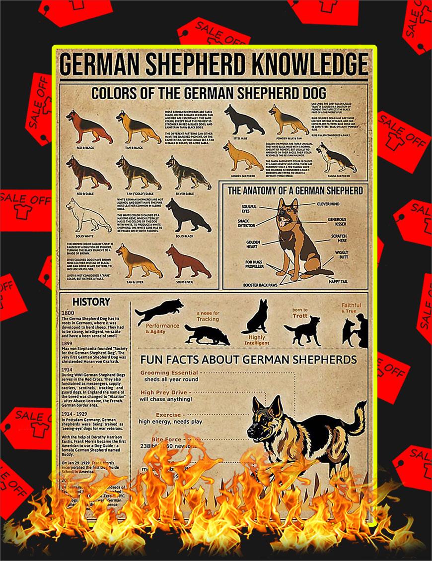 German Shepherd Knowledge Poster - 11x17