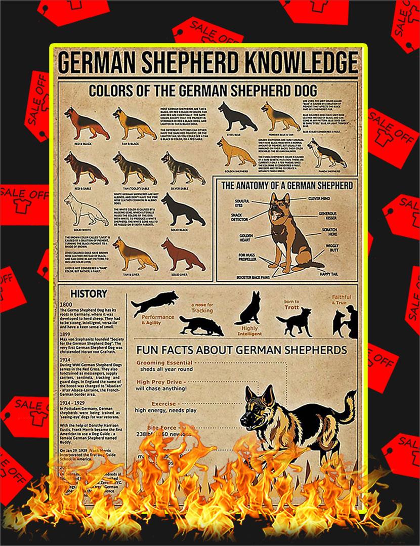 German Shepherd Knowledge Poster - 24x36