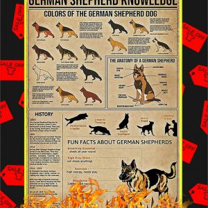 German Shepherd Knowledge Poster