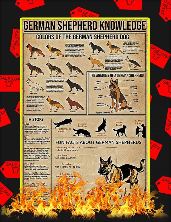 German Shepherd Knowledge Poster