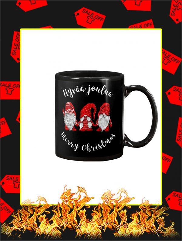 Gnomies Hyvaa Joulua Merry Christmas Mug