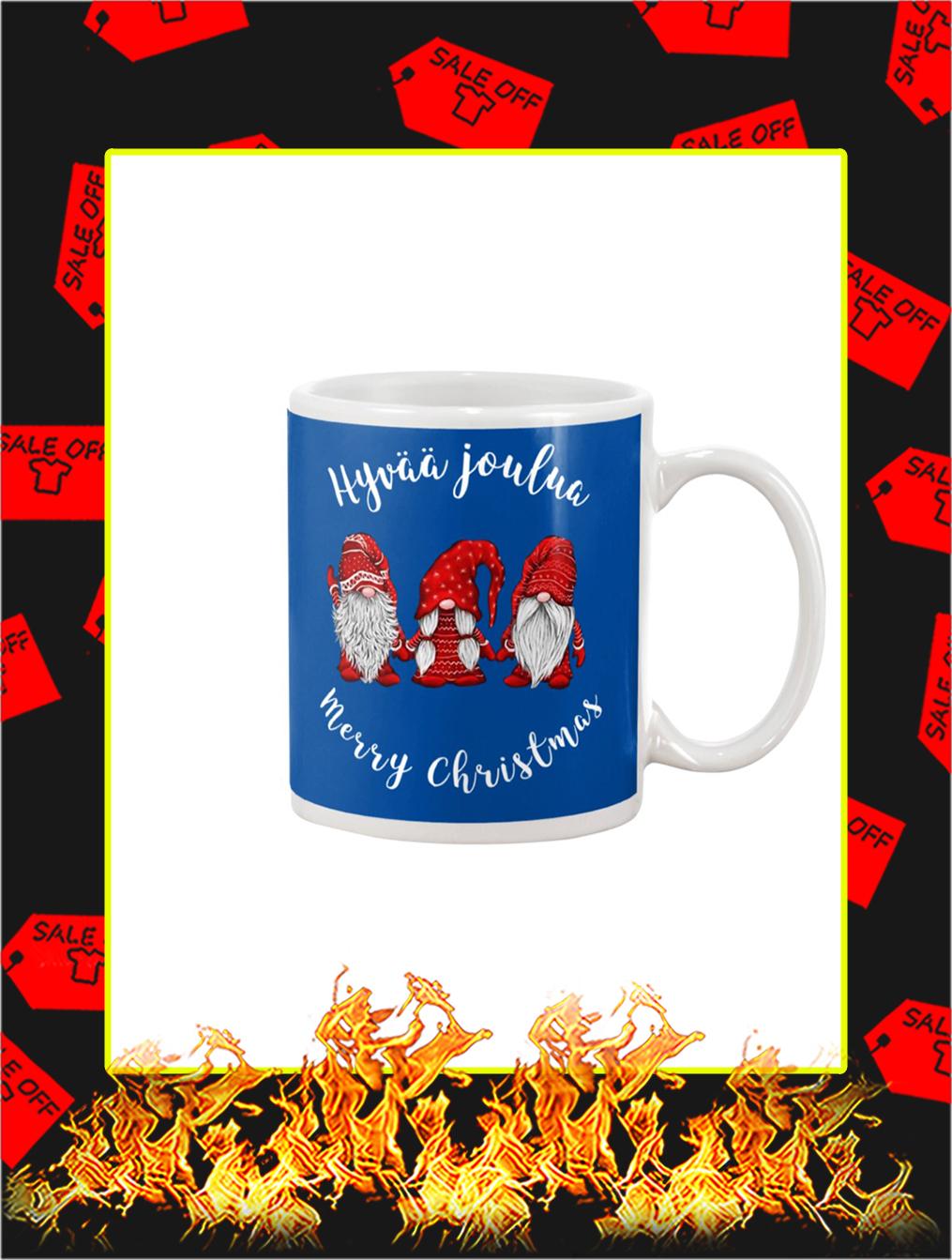 Gnomies Hyvaa Joulua Merry Christmas Mug- blue