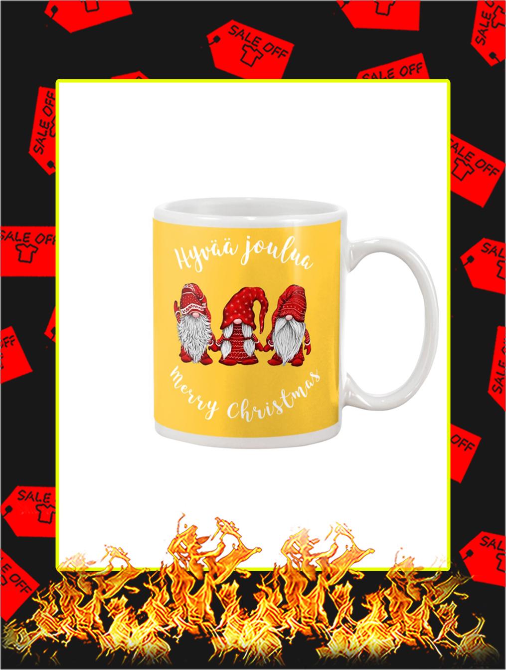 Gnomies Hyvaa Joulua Merry Christmas Mug- gold