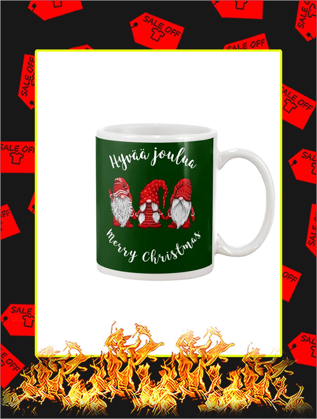 Gnomies Hyvaa Joulua Merry Christmas Mug- green