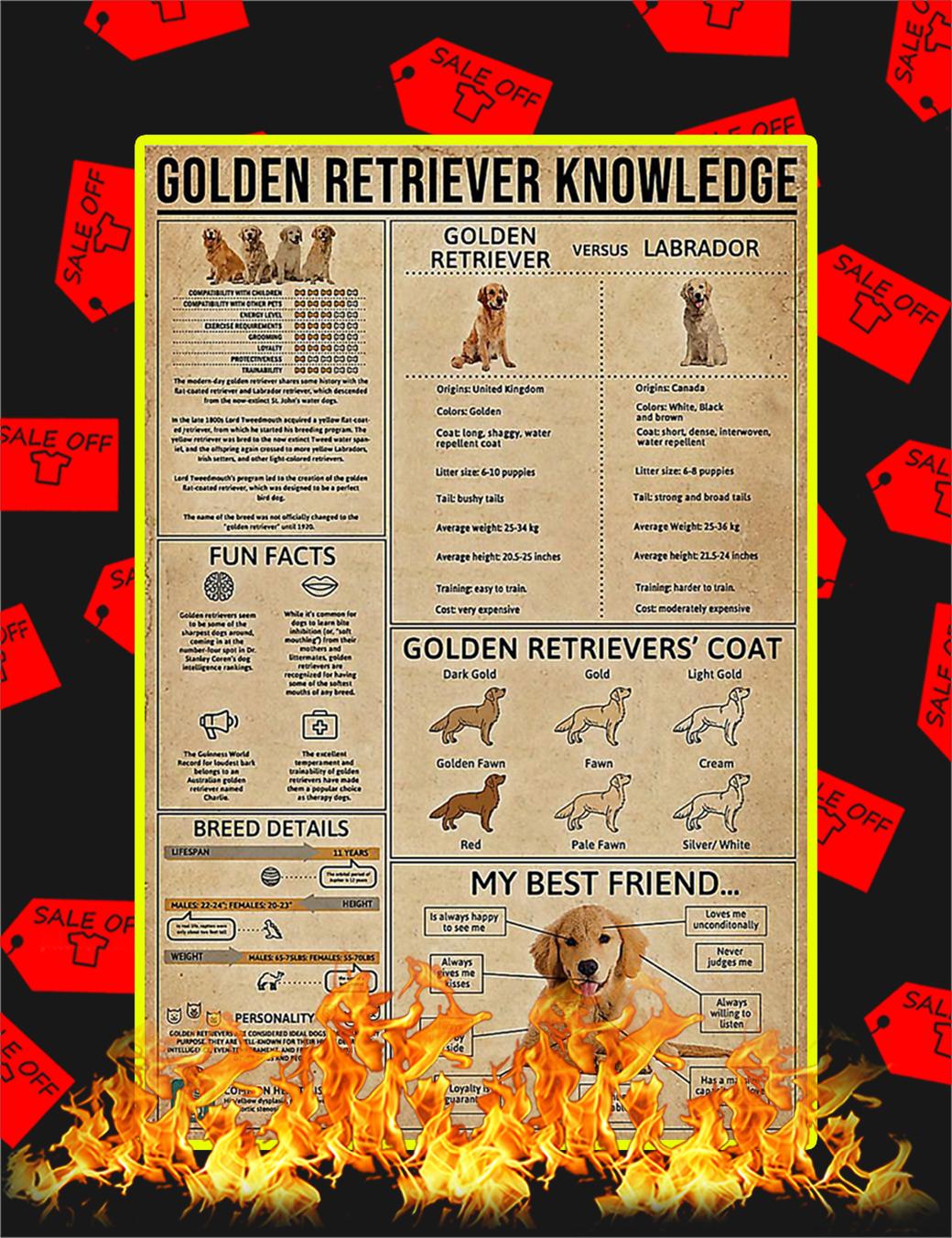 Golden Retriever Knowledge Poster - 24x36