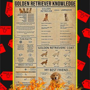 Golden Retriever Knowledge Poster