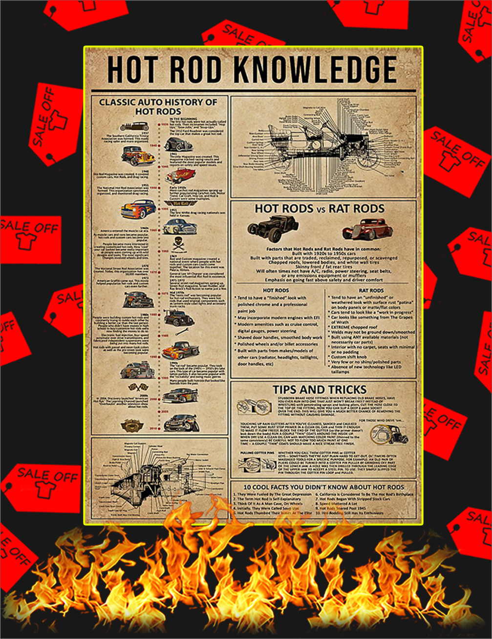 Hot Rod Knowledge Poster-A4