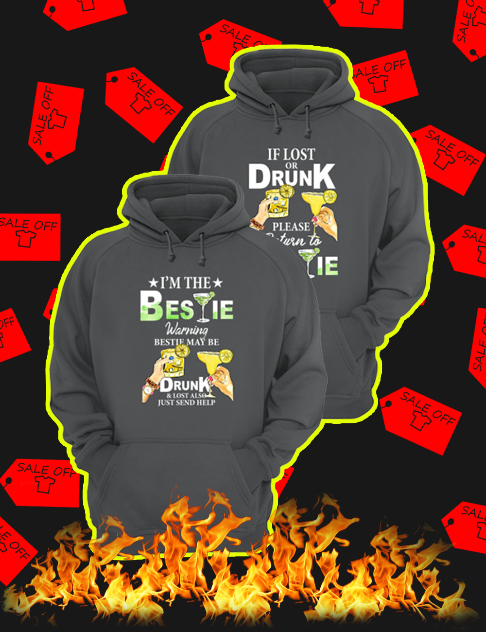 If Lost Or Drunk Please Return To Bestie Hoodie-grey