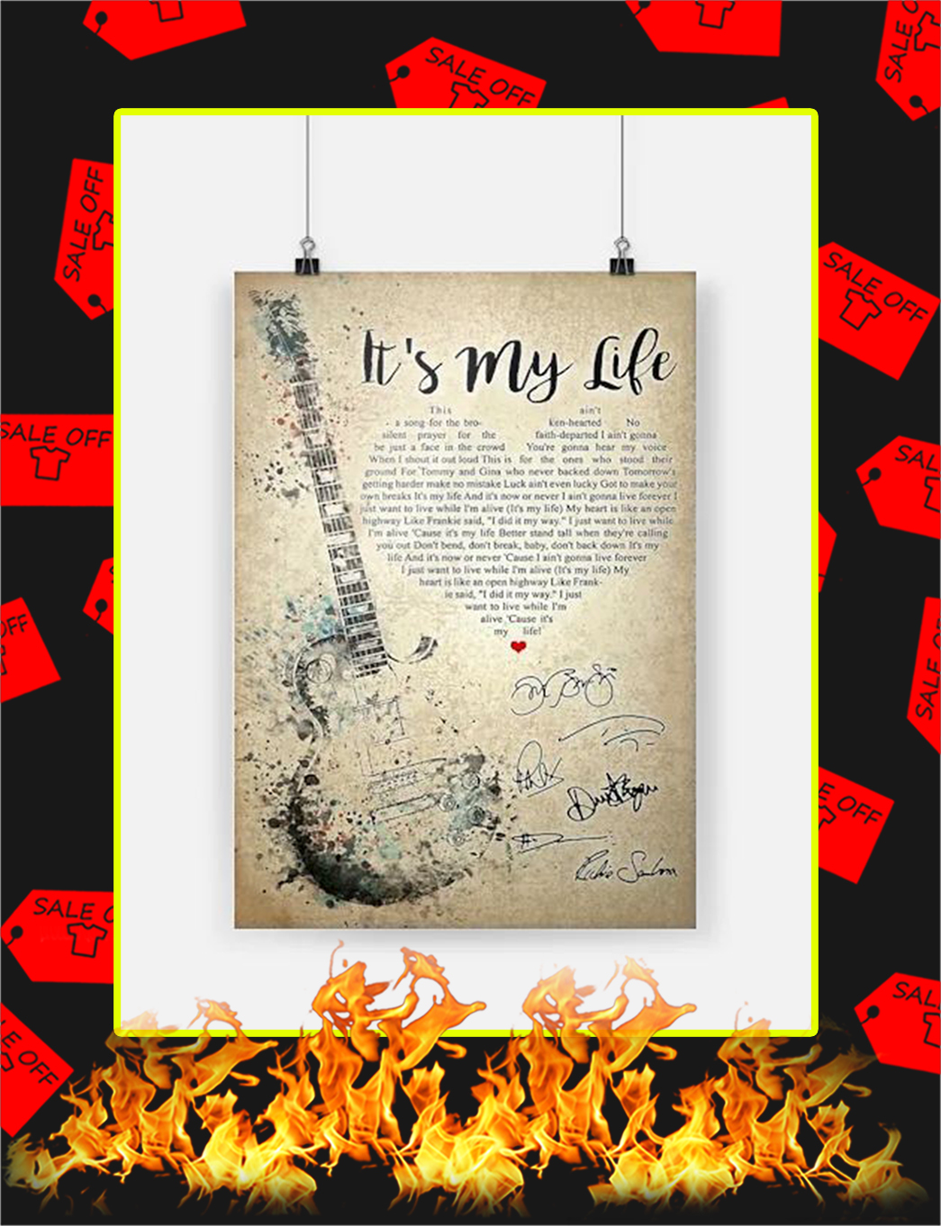 It's My Life Bon Jovi Poster - A3