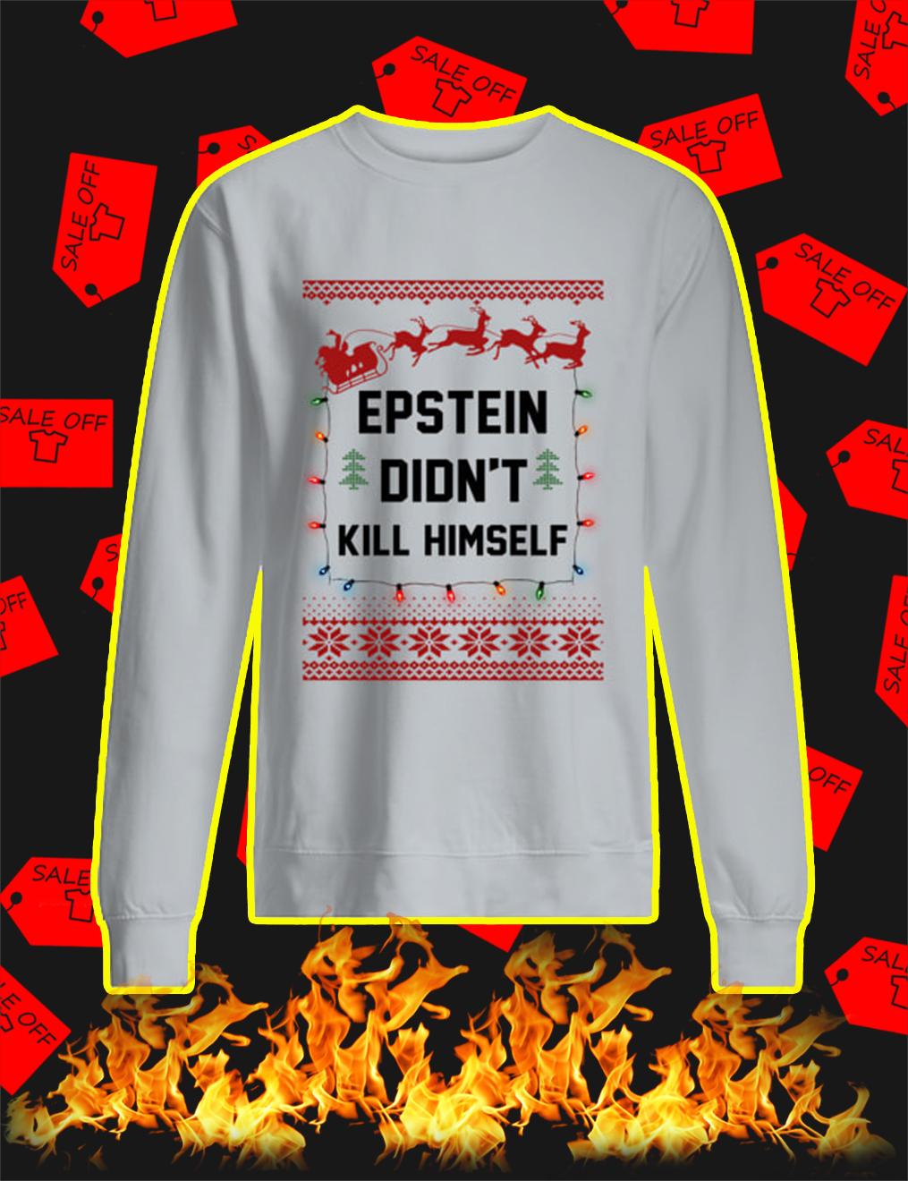 Jeffrey Epstein Didn't Kill Himself Christmas Sweater- grey