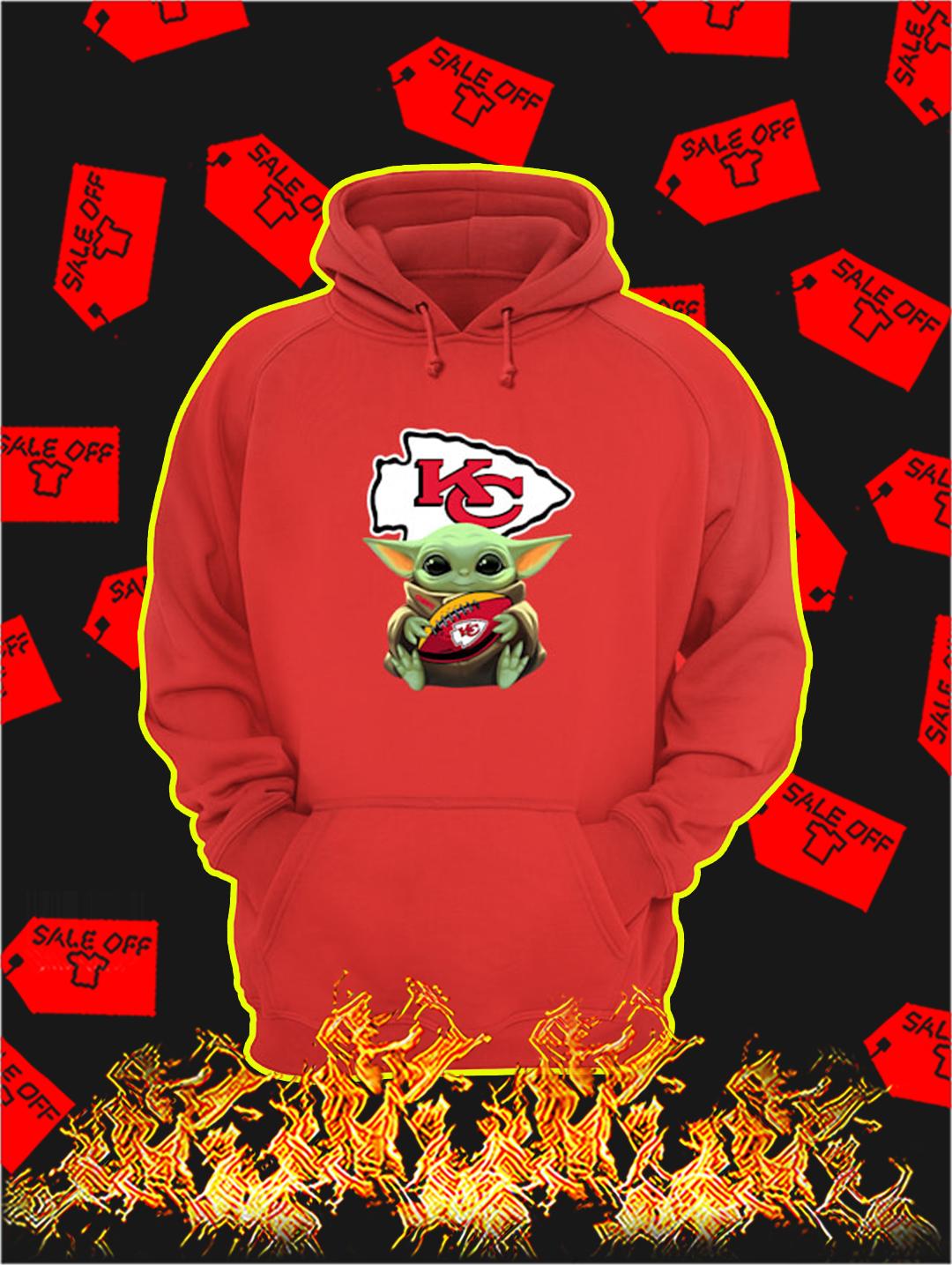 Kansas City Chiefs Baby Yoda hoodie