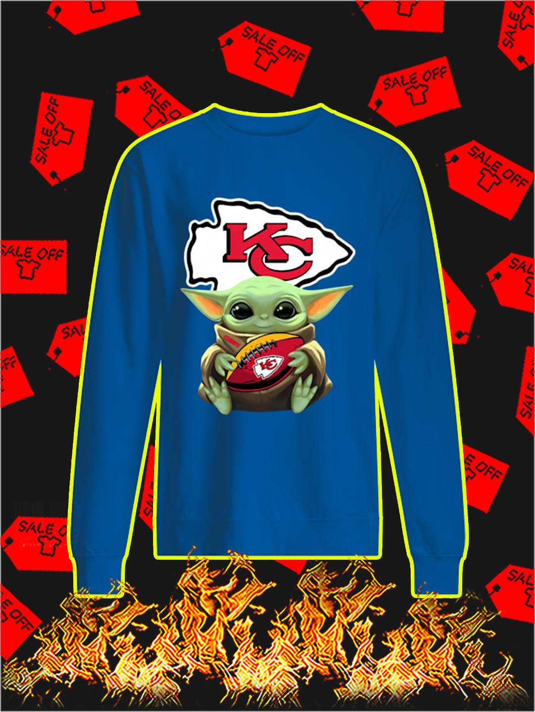 Kansas City Chiefs Baby Yoda sweatshirt