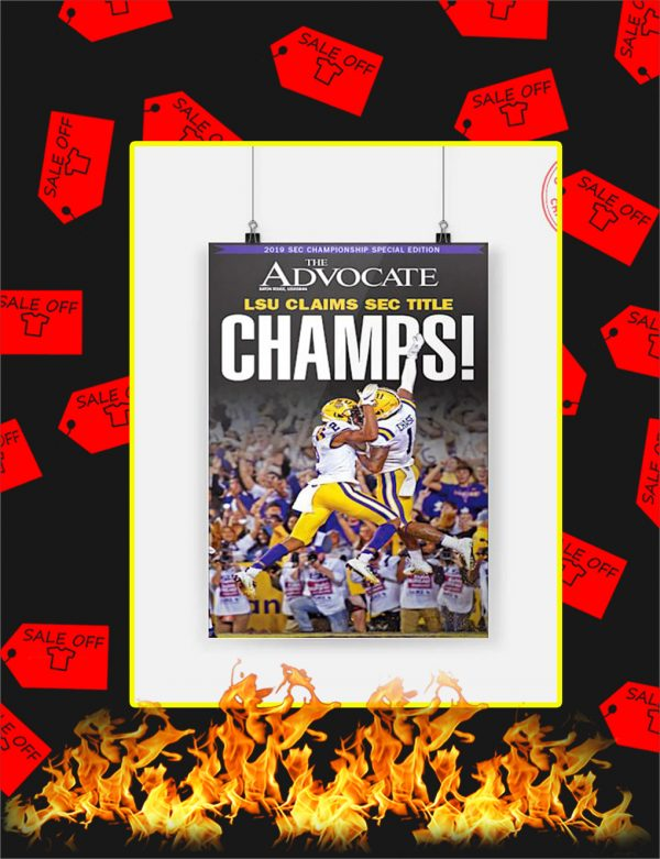 LSU Claims Sec Title Champs Poster