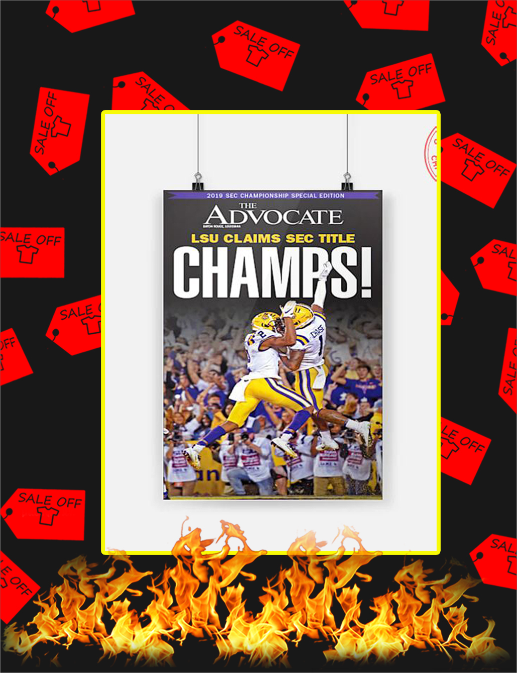 LSU Claims Sec Title Champs Poster - A3