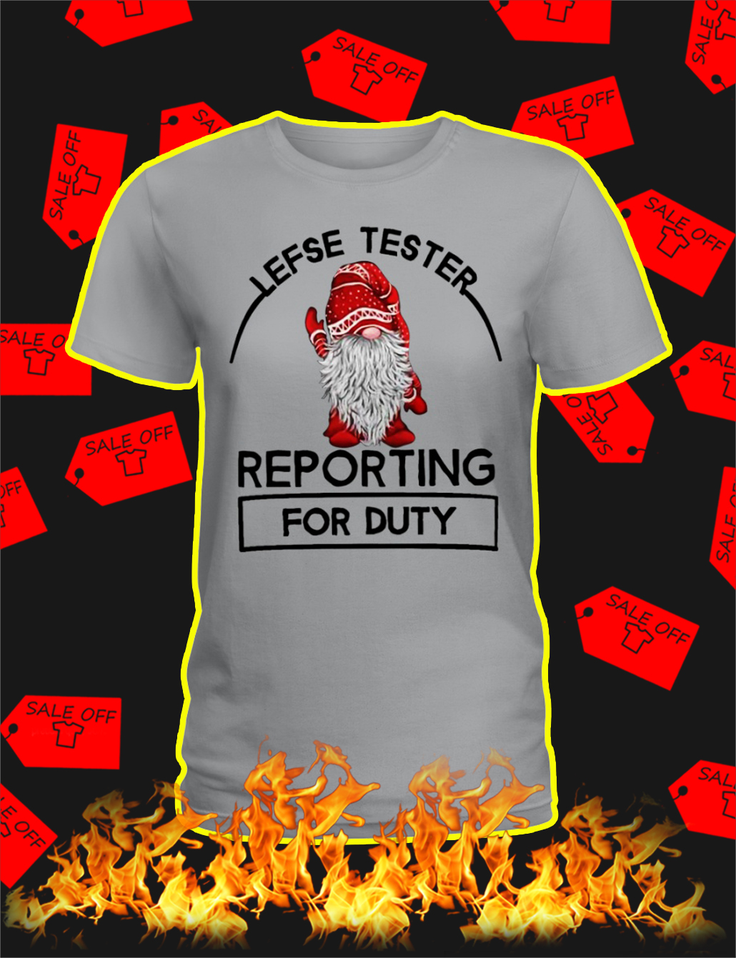 Lefse Tester Reporting For Duty lady shirt
