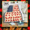 Motocross American Flag Blanket