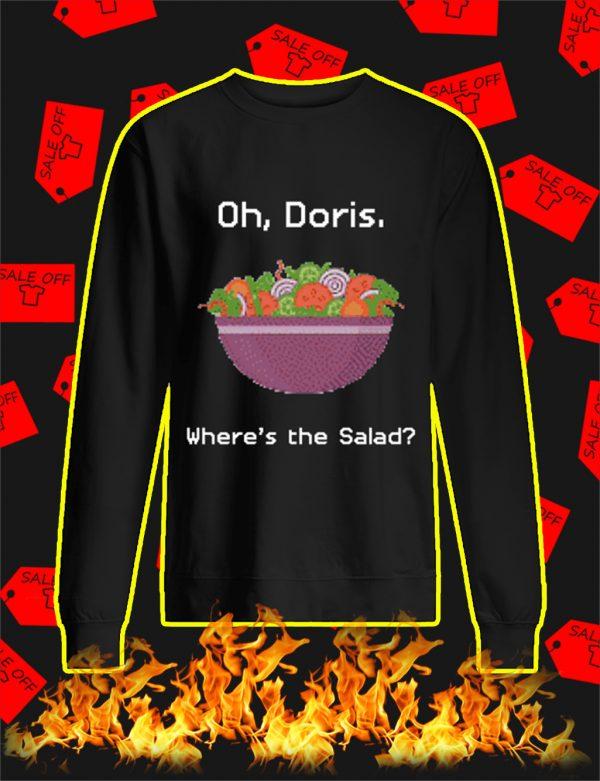 Oh Doris Where's The Salad Ugly Christmas Sweater