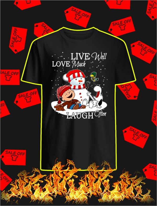Peanuts Live Well Love Much Laugh Often Christmas shirt