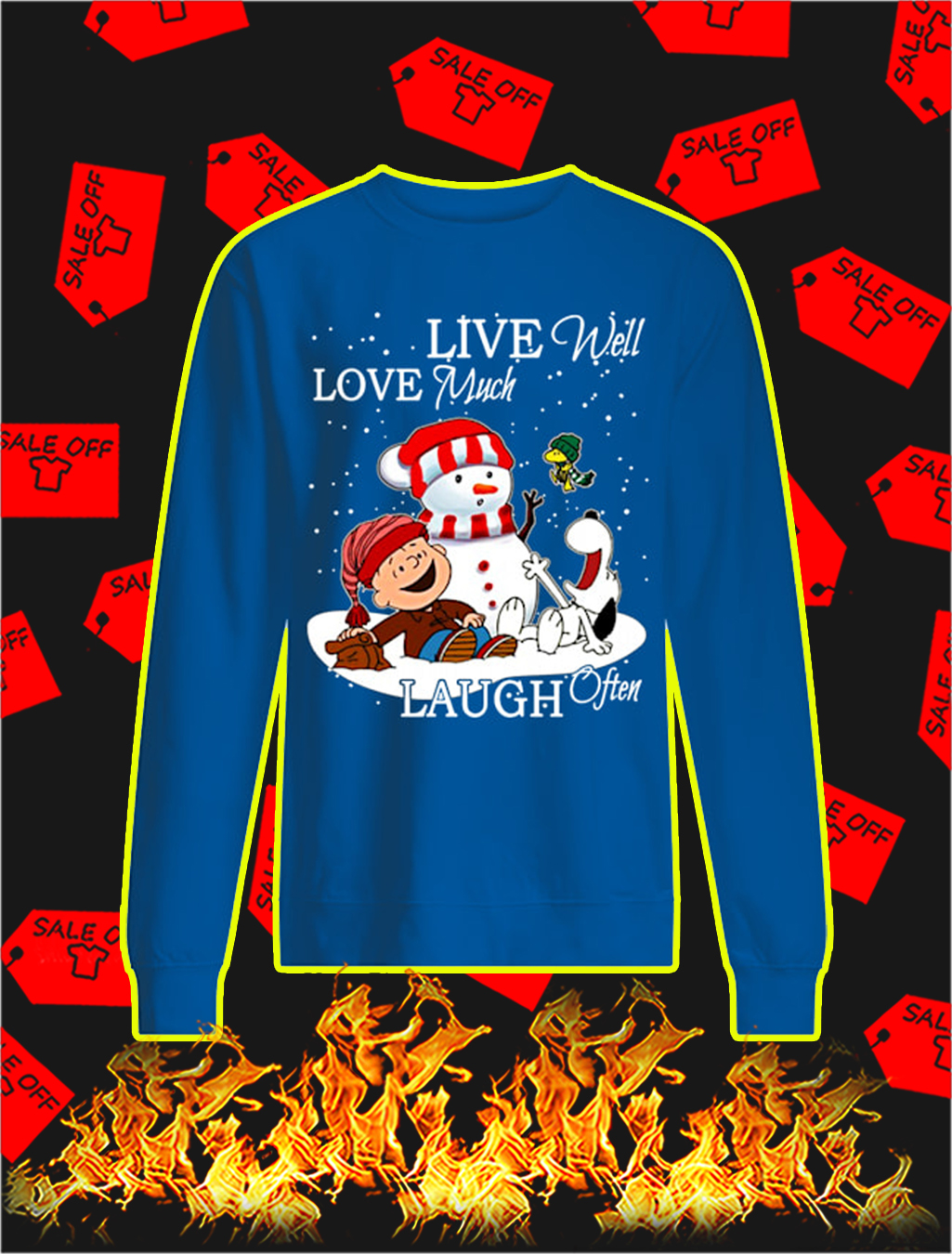 Peanuts Live Well Love Much Laugh Often Christmas sweatshirt