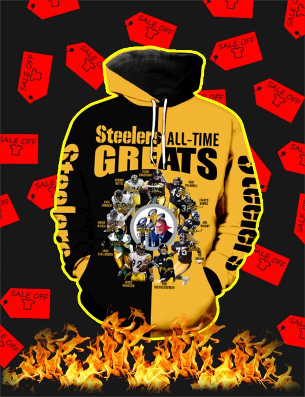 Pittsburgh Steelers All Time Greats Full All Over Print 3D Hoodie