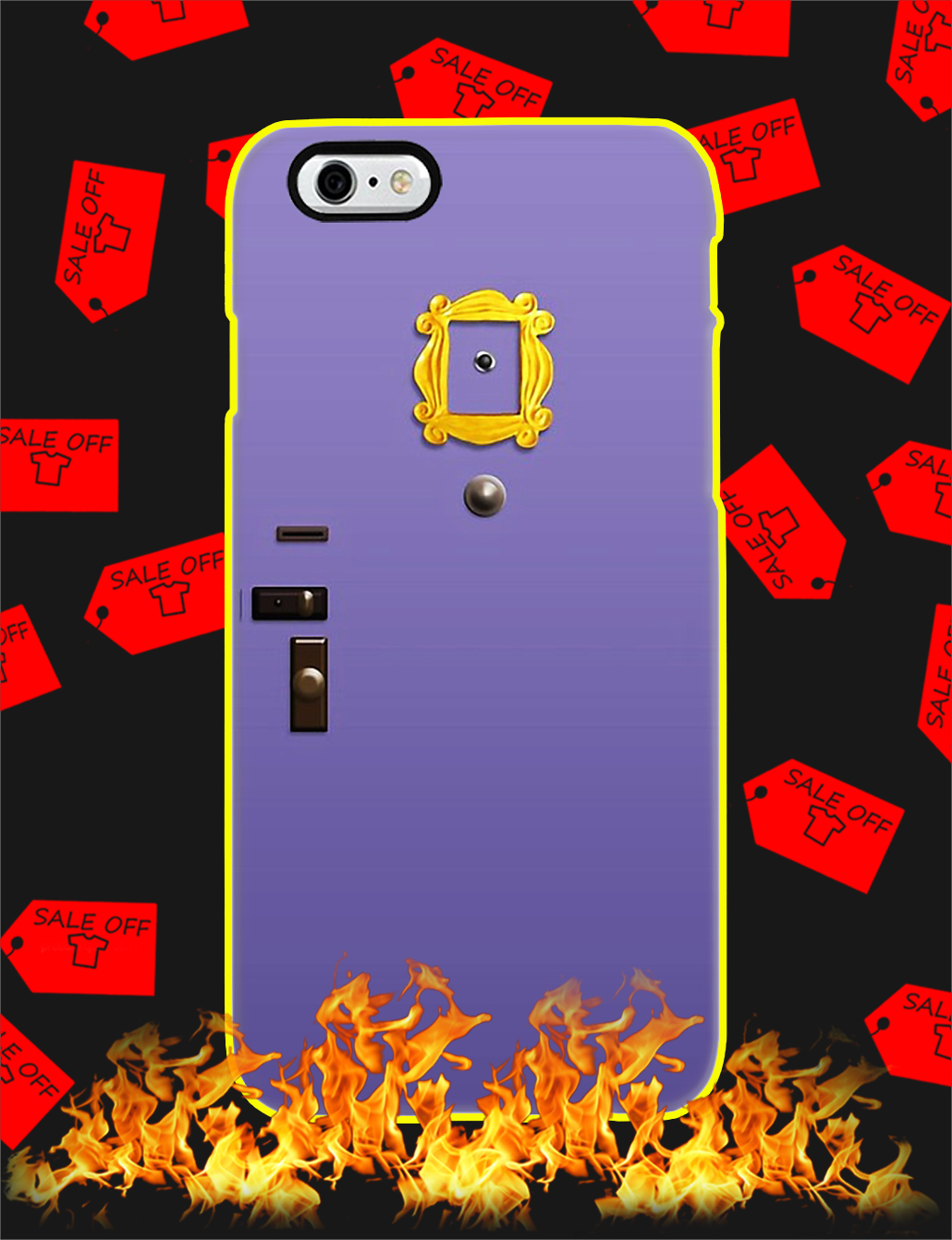 Purple Friends Door Phone Case-IP 6