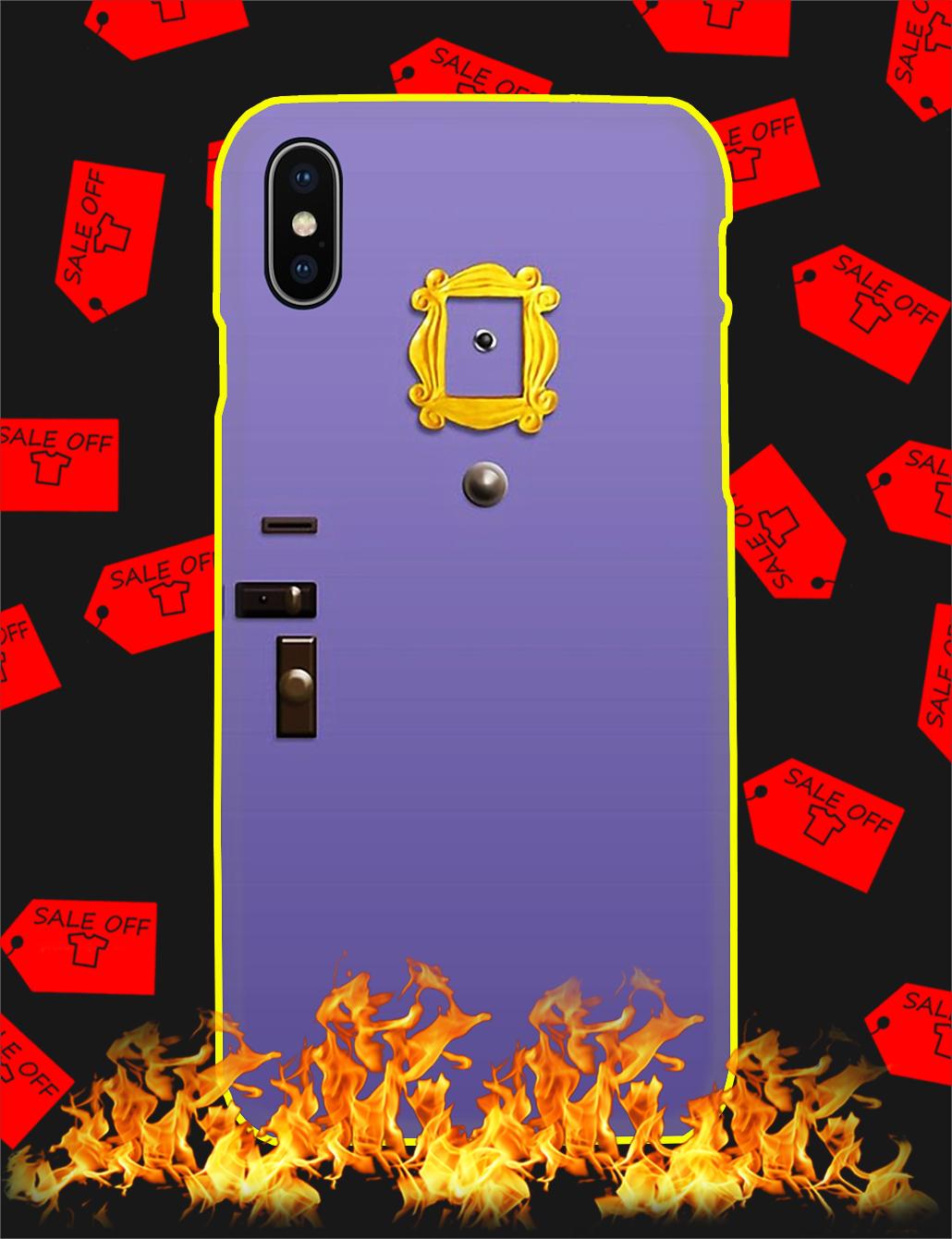 Purple Friends Door Phone Case-IP X