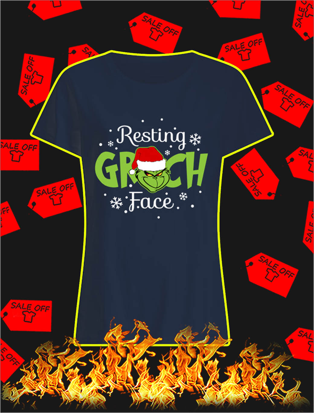 Resting Grinch Face lady shirt