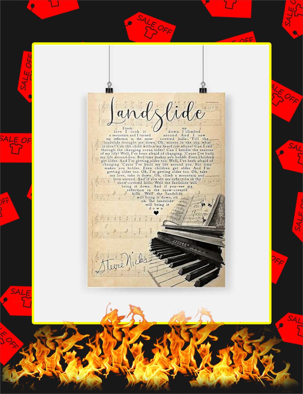 Stevie Nicks Landslide Poster - A3
