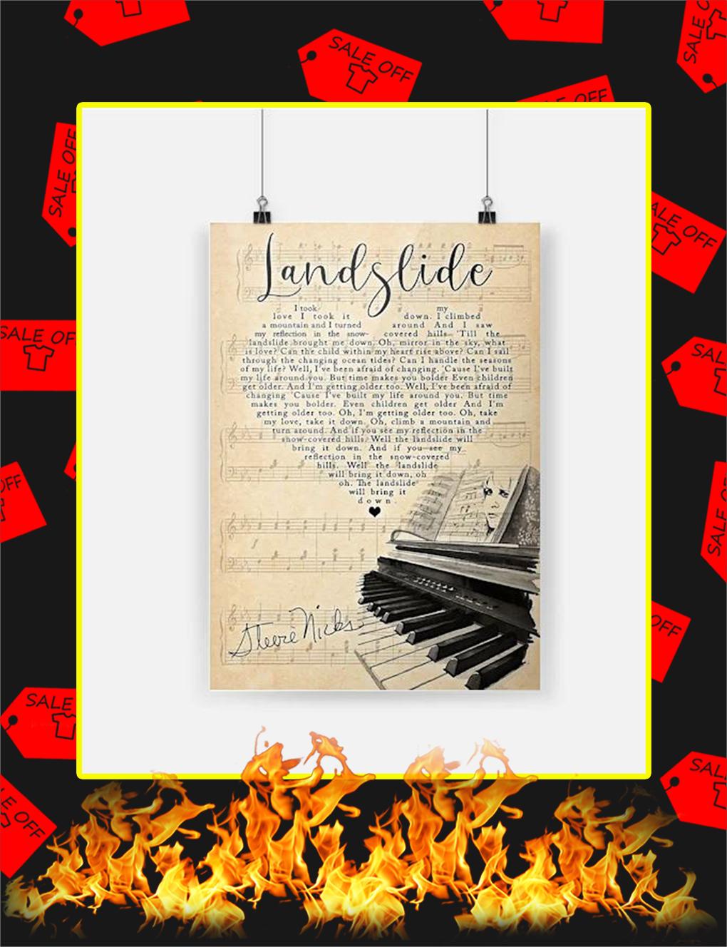 Stevie Nicks Landslide Poster - A4