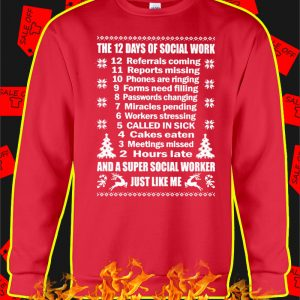 The 12 Days Of Social Work Christmas Jumper